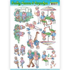 CD11240 - 10 stuks knipvellen - Yvonne Creations - Funky Nanna's - Vacation