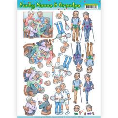 CD11239 - 10 stuks knipvellen - Yvonne Creations - Funky Nanna's - Sporting Together
