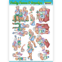 CD11238 - 10 stuks knipvellen - Yvonne Creations - Funky Nanna's - With the Grandchilds