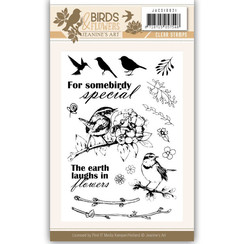 JACS10021 - Stempel - Jeanines Art- Birds and Flowers