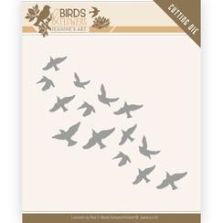 JAD10061 - Mal - Jeanines Art- Birds and Flowers - Flock of Birds