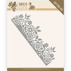 JAD10058 - Mal - Jeanines Art- Birds and Flowers - Daisy Border