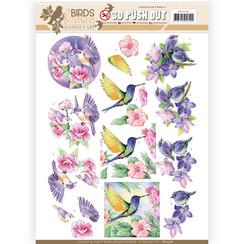 SB10318 - 3D Uitdrukvel - Jeanines Art- Birds and Flowers - Tropical birds