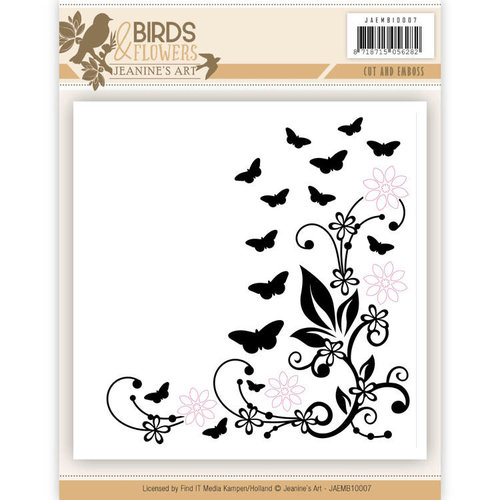 Jeanines Art JAEMB10007 - Cut and Embossing folder - Jeanines Art- Birds and Flowers