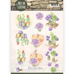CD11210 - 10 stuks knipvellen - Jeanines Art- Art of Living - Purple Art