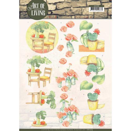 Jeanines Art CD11209 - 10 stuks knipvellen - Jeanines Art- Art of Living - Orange Art