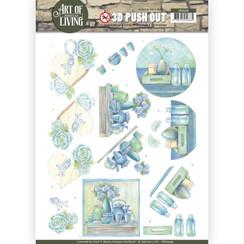 SB10309 - 3D Uitdrukvel - Jeanines Art- Art of Living - Blue Art