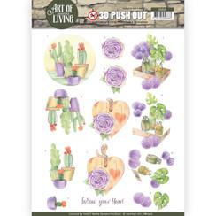 SB10311 - 3D Uitdrukvel - Jeanines Art- Art of Living - Purple Art