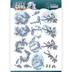 CD11204 - 10 stuks knipvellen - Amy Design - Keep it Cool - Cool Birds