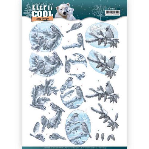 Amy Design CD11204 - 10 stuks knipvellen - Amy Design - Keep it Cool - Cool Birds