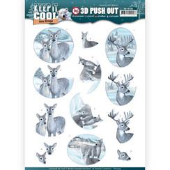 SB10305 - 3D Uitdrukvel - Amy Design - Keep it Cool - Cool Deers