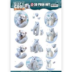 SB10306 - HJ16401 - 3D Uitdrukvel - Amy Design - Keep it Cool - Cool Polar Bears