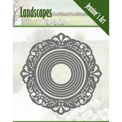 JAD10051 - Mal - Jeanines Art- Landscapes - Mini Frame Round