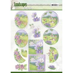 CD11170 - 10 stuks knipvellen - Jeanines Art- Landscapes - Spring Landscapes