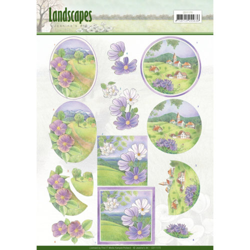 Jeanines Art CD11170 - 10 stuks knipvellen - Jeanines Art- Landscapes - Spring Landscapes