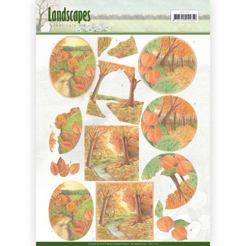 Jeanines Art CD11172 - 10 stuks knipvellen - Jeanines Art- Landscapes - Fall Landscapes