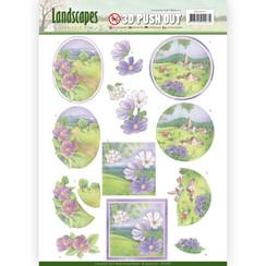 SB10295 - 3D Uitdrukvel - Jeanines Art- Landscapes - Spring Landscapes