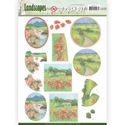 SB10296 - 3D Uitdrukvel - Jeanines Art- Landscapes - Summer Landscapes