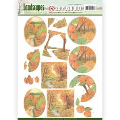 SB10297 - 3D Uitdrukvel - Jeanines Art- Landscapes - Fall Landscapes