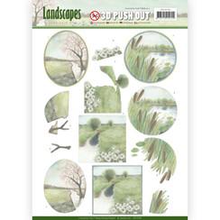 SB10298 - 3D Uitdrukvel - Jeanines Art- Landscapes - Winter Landscapes
