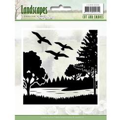 JAEMB10006 - Cut and Embossing folder - Jeanines Art- Landscapes