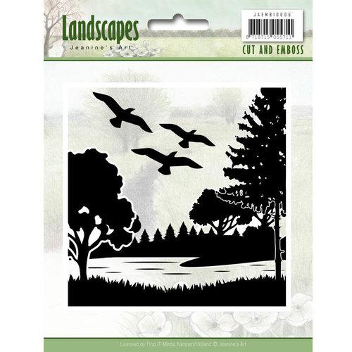 Jeanines Art JAEMB10006 - Cut and Embossing folder - Jeanines Art- Landscapes