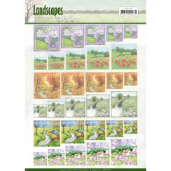 JAMIN10001 - Scenery mini knivellen - Jeanines Art- Landscapes - vierkant