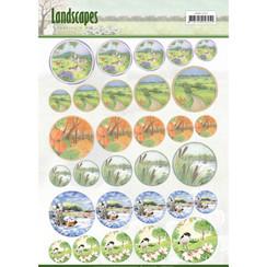 JAMIN10002 - Scenery mini knipvellen - Jeanines Art- Landscapes - cirkel