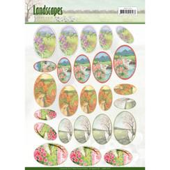 JAMIN10003 - Scenery mini knipvellen - Jeanines Art- Landscapes - ovaal