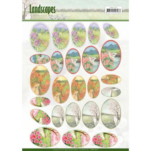 Jeanines Art JAMIN10003 - Scenery mini knipvellen - Jeanines Art- Landscapes - ovaal