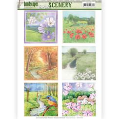 CDS10005 - Die Cut Topper - Scenery - Jeanines Art- Landscapes - Landscape Squaree