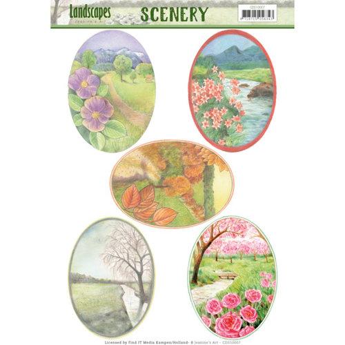Jeanines Art CDS10007 - Die Cut Topper - Scenery - Jeanines Art- Landscapes - Landscape Squaree