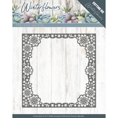 PM10139 - Mal - Precious Marieke - Winter Flowers - Snowflake flower frame