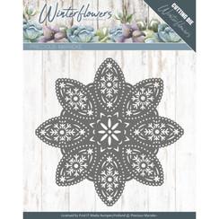 PM10140 - Mal - Precious Marieke - Winter Flowers - Floral Snowflake