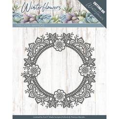 PM10141 - Mal - Precious Marieke - Winter Flowers - Ice flower circle