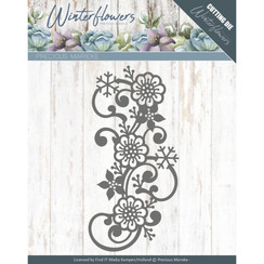 PM10142 - Mal - Precious Marieke - Winter Flowers - Snowflake flower swirl