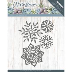 PM10143 - Mal - Precious Marieke - Winter Flowers - Ice flowers