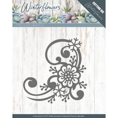 PM10144 - Mal - Precious Marieke - Winter Flowers - Snowflake flower corner
