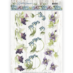 CD11188 - 10 stuks knipvellen - Precious Marieke - Winter Flowers - Orchids
