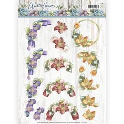 CD11189 - 10 stuks knipvellen - Precious Marieke - Winter Flowers - Helleborus
