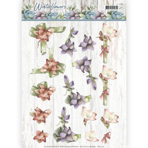 Precious Marieke CD11190 - 10 stuks knipvellen - Precious Marieke - Winter Flowers - Amaryllis