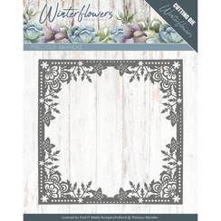 PM10138 - Mal - Precious Marieke - Winter Flowers - Ice Flower Frame