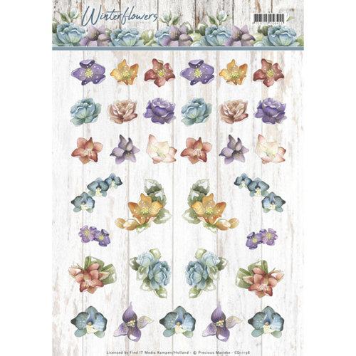 Precious Marieke CD11198 - 10 stuks knipvellen - Precious Marieke - Winter Flowers - Mini