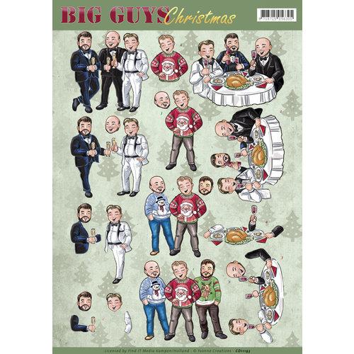 Yvonne Creations CD11193 - 10 stuks knipvellen - Yvonne Creations - Big Guys Christmas - Christmas Dinner