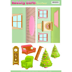CD11199 - Achtergrondvellen - Yvonne Creations - Bubbly Girls Christmas - 1