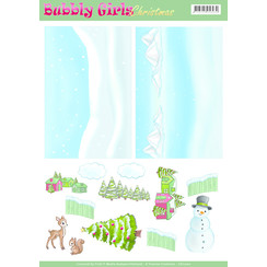 CD11200 - Achtergrondvellen - Yvonne Creations - Bubbly Girls Christmas - 2