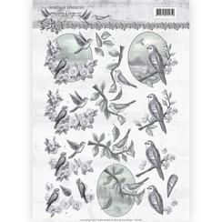 CD11180 - 10 stuks knipvellen - Amy Design - Words of Sympathy - Sympathy Swallows