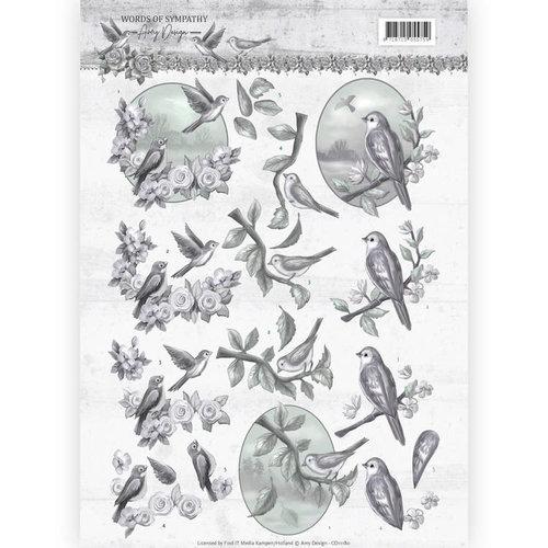 Amy Design CD11180 - 10 stuks knipvellen - Amy Design - Words of Sympathy - Sympathy Swallows