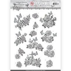 SB10313 - 3D Uitdrukvel - Amy Design - Words of Sympathy - Sympathy Roses