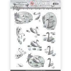 SB10315 - 3D Uitdrukvel - Amy Design - Words of Sympathy - Sympathy Swans
